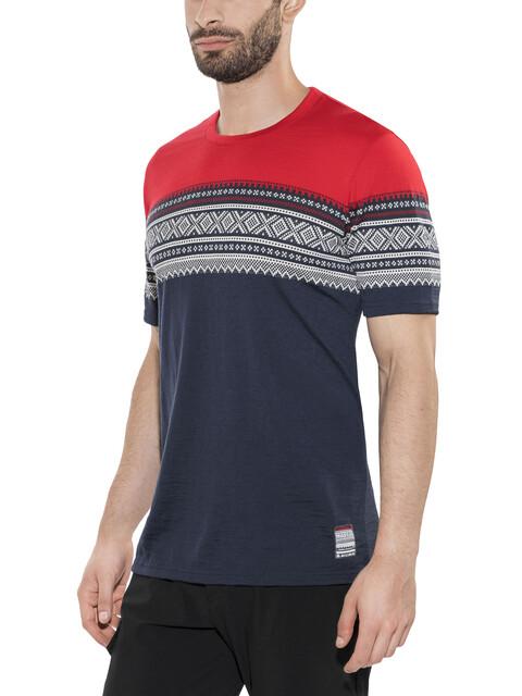Aclima De Marius - T-shirt manches courtes Homme - rouge/bleu